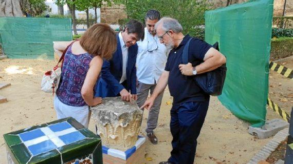 Inician la restauración de los elementos artísticos de los Jardines de Murillo