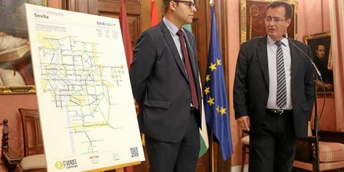 La iniciativa 'Metrominuto' reparte mapas para impulsar los desplazamientos a pie en la capital