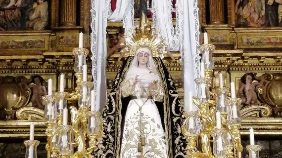 La Soledad aguarda en su paso el triduo por los 150 años en San Lorenzo