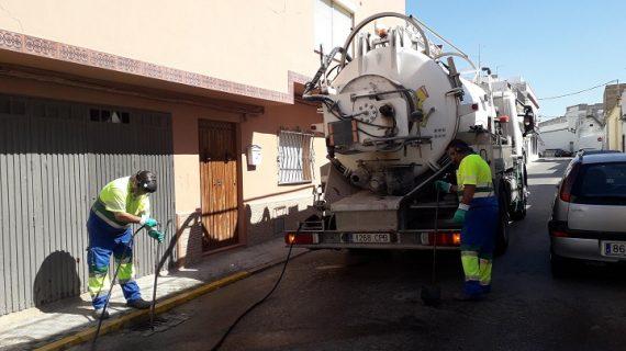 Extraen 145.000 kilos de residuos de las alcantarillas de Morón