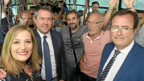 Sevilla estrena el lunes la Línea Norte que une Pino Montano con Santa Justa, Nervión, San Bernardo y El Prado