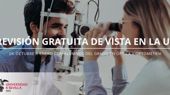 Alumnos del Grado en Óptica y Optometría de la US realizarán revisiones de vista gratuitas