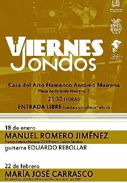 Mairena del Alcor potencia el estudio del flamenco con los ciclos 'Viernes Jondos' y 'Al cante en la escuela'