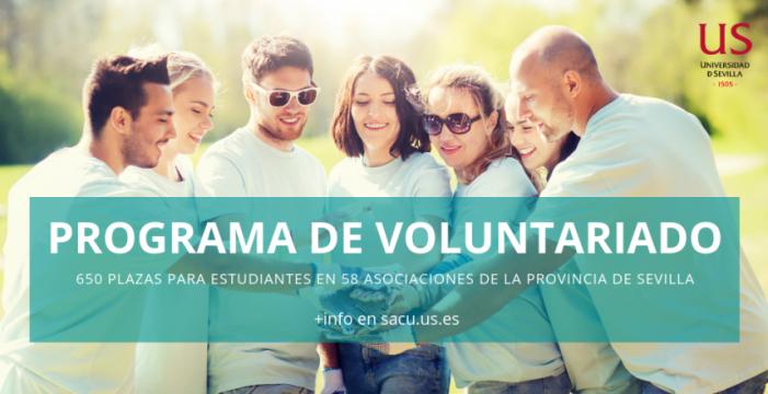 La Universidad de Sevilla oferta más de 650 plazas de voluntariado en 58 asociaciones de la provincia