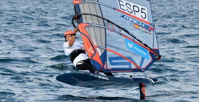 La windsurfista sevillana Marina Alabáu, subcampeona en la prueba internacional de las Azores