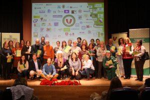 Foto de familia de la Plataforma del voluntariado social de Sevilla.