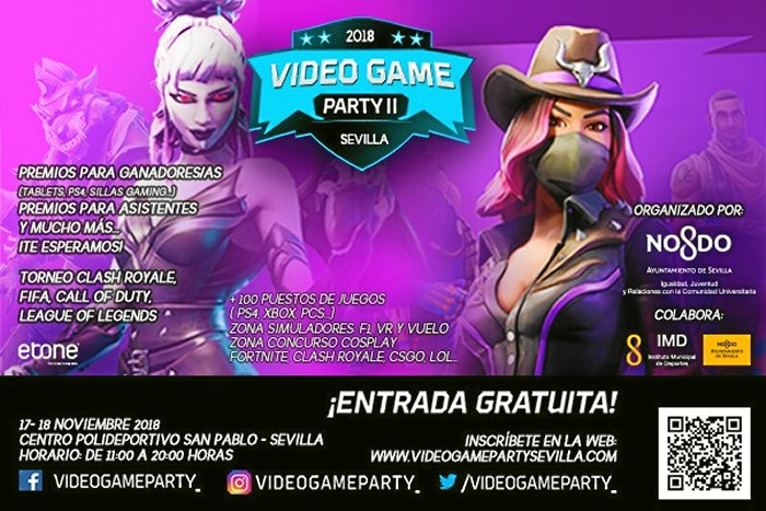 La Pablo Party Videogame El Polideportivo Y Acoge San 18 17 Ii nXw80kOP