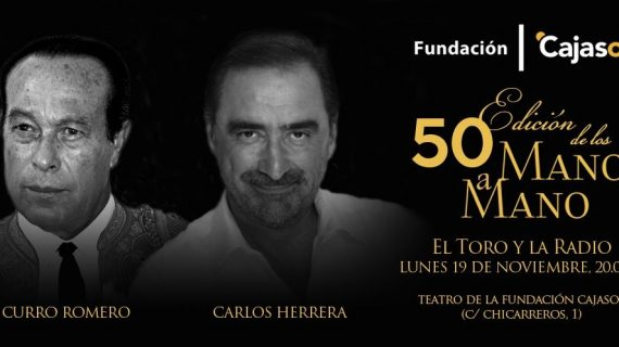 Carlos Herrera y Curro Romero debaten sobre radio y toros en el Teatro Cajasol