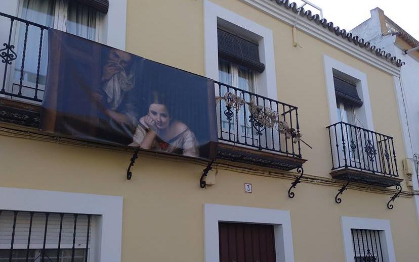 Reproducciones de cuadros de gran formato de Bartolomé Esteban Murillo en Salteras.
