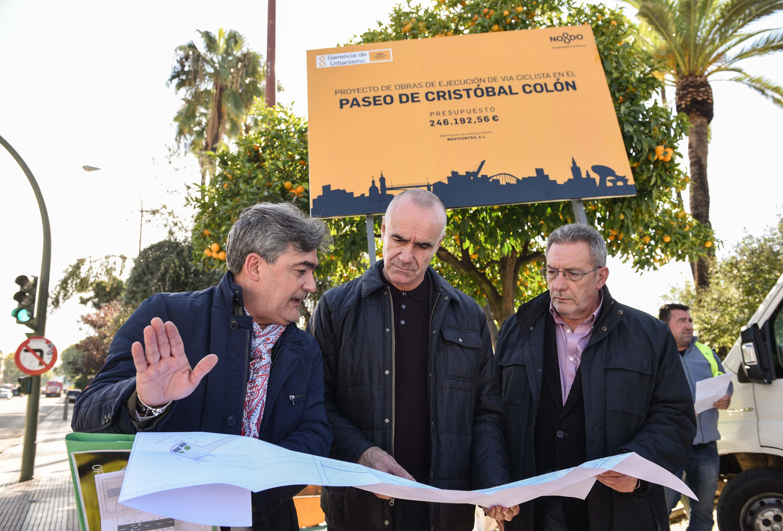 Arrancan las obras del nuevo carril bici del Paseo de Colón