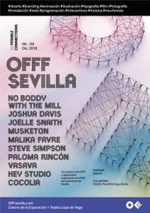 Cartel de la primera edición de OFFF Sevilla.