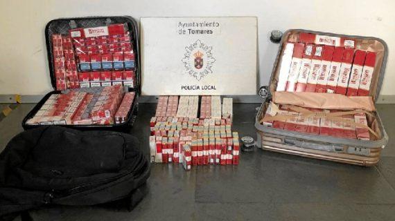 Requisadas 528 cajetillas de tabaco de contrabando en Tomares