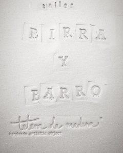 Próximas ediciones de su taller 'Birra y barro', en noviembre y diciembre.