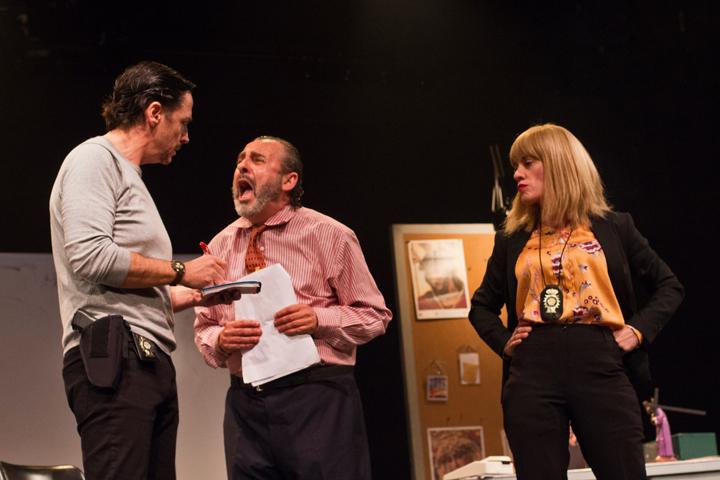 En la imagen, de izquierda a derecha, los actores Moncho Sánchez-Diezma, Manolo Monteagudo y la actriz Paqui Montoya.