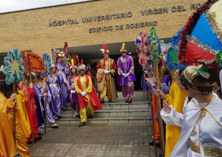Sus Magestades de Oriente también los visitarán el próximo 5 de enero.