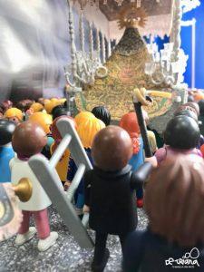En la imagen, detalle del escaparate de la Semana Santa de la tienda de la calle Pureza.