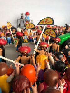 En la imagen, detalle del escaparate navideño de la tienda de la calle Pureza.