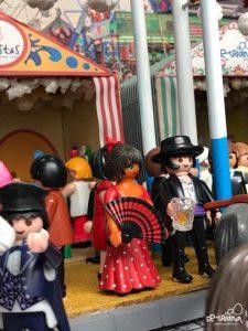 En la imagen, detalle del escaparate de la Feria de abril de la tienda de la calle Pureza.