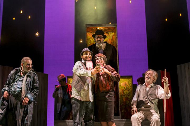 En la imagen, un instante durante la representación de 'Luces de Bohemia'.