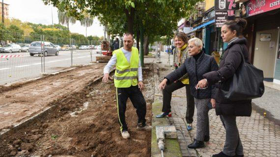 Obras en la calle Clemente Hidalgo para mejorar accesibilidad y zonas verdes