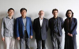 Plácido González Martínez con el equipo del Plan Gaofeng en la Universidad Tongji: Dr. Benjamin Mouton (centro), Dr. Chang Qing (centro izquierda), Dra. Li Yingchun (derecha), Mr. Zhu Donghai (izquierda)