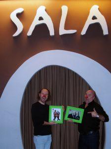 Los Síndrome, en la característica entrada de Sala Cero Teatro.