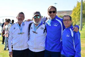 En la imagen, los veteranos del Club Piragüismo Triana.