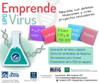 Llega la quinta edición del programa 'Emprendevirus' dirigido a universitarios