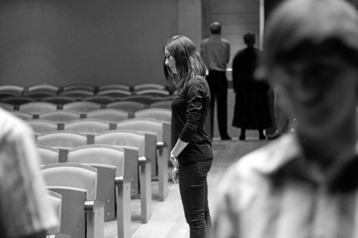 """Araceli de Areba, directora de los talleres de teatro de la ONCE en Sevilla: """"Yo veo la capacidad"""""""