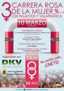 Cartel de la III Carrera rosa de Los Palacios y Villafranca.