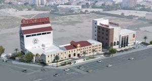 Maqueta de la transformación de la sede en Avenida de Andalucía 1.