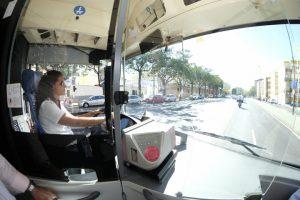 Presentan la nueva línea norte de TUSSAM y realizan el primer recorrido de prueba / Foto: Pepo Herrera/Ayuntamiento de Sevilla.