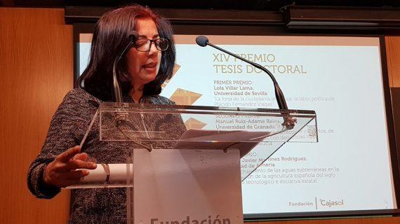Lola Villar de la US recibe el Primer Premio Tesis Doctoral