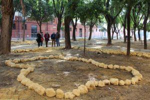 En la imagen, las obras de reurbanización en la calle Enrique Granados, en Cerro-Amate.