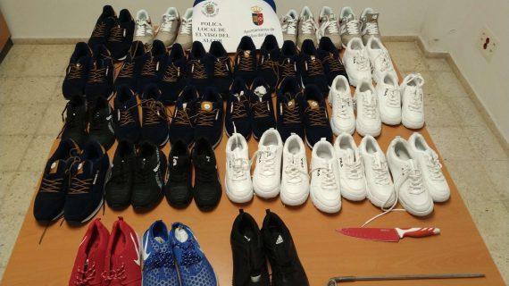 Agentes de El Viso decomisan 31 pares de calzado por falsificación