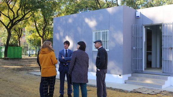 Nuevo conjunto de casetas modulares provisionales para trabajadores del Parque Amate