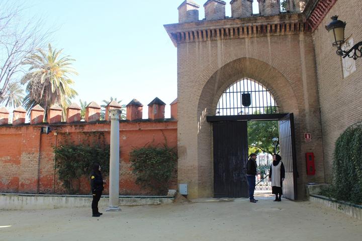 Puerta de La Alcoba del Real Alcázar de Sevilla.