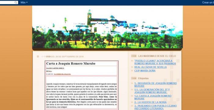Crean homenaje al poeta Joaquín Romero Murube a través de un blog