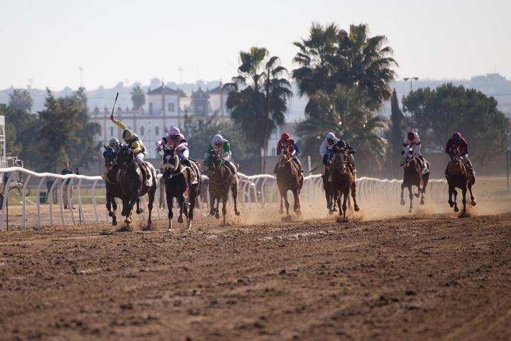 Imagen de una carrera celebrada en Pineda el pasado diciembre.