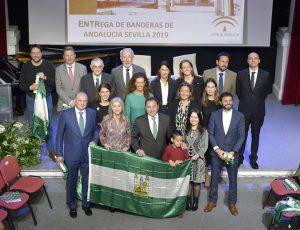En la imagen, las diez personas y entidades homenajeadas con motivo del 28F.