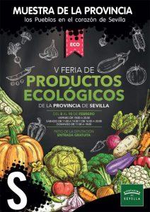 Cartel de la V Feria de productos ecológicos de la provincia de Sevilla.