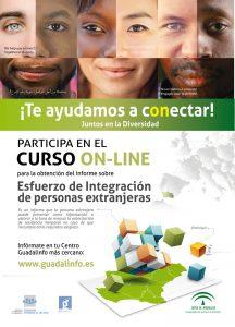 Cartel del curso Guadalinfo para la inclusión de las personas inmigrantes.