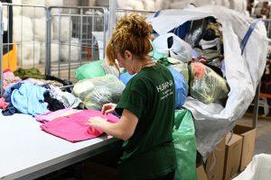 Recogida y reutilización del textil recuperado.