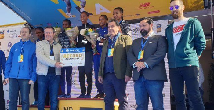 Edición histórica del Zurich Maratón de Sevilla con doble récord
