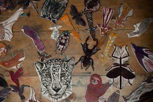 En la imagen, algunos de los sellos creados para ilustrar 'Alma animal'.