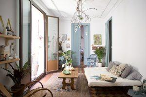 En la imagen, una estancia del estudio casa La Selva.