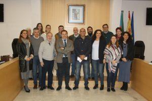 En la recepción al delegado saharaui para Andalucía, Mohamed Zrug.