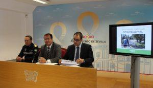 Nueva estrategia en materia de seguridad vial puesta en marcha por el Ayuntamiento de Sevilla.