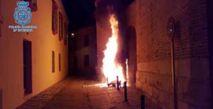 Detenido en Écija por la quema de doce contenedores de basura