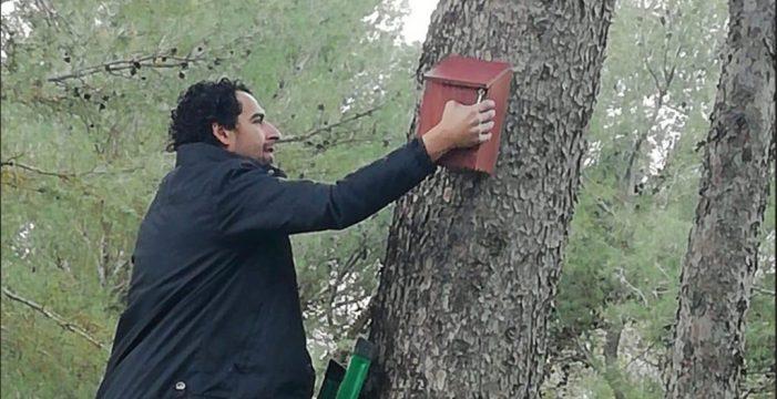 Colocan en Estepa una veintena de nidales para aumentar la biodiversidad